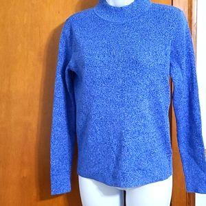 NWT Karen Scott marbled mockneck pullover sweater